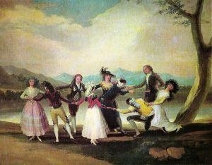"""Un impuesto que grava la riqueza, tan bien expresada por Goya en su obra """"La gallina ciega"""""""